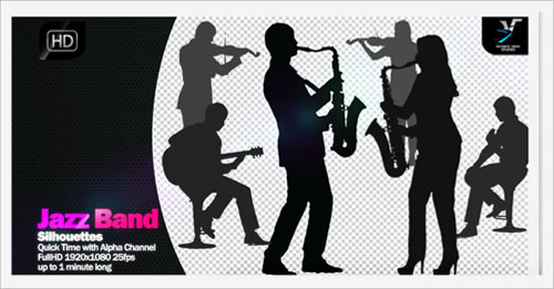 Jazz Band Silhouettes